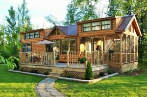 Cabin Tiny House many Styles Movable Pre fab For Your Lot property Part Furn
