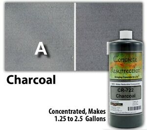Professional Easy To Apply Water Based Concrete Stain Charcoal