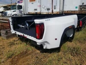 2020 Gmc Sierra 3500 Drw Dually Pick Up Bed Box Assembly White New Take Off