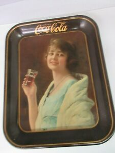 AUTHENTIC COKE COCA COLA 1923 ADVERTISING SERVING TIN TRAY   976-