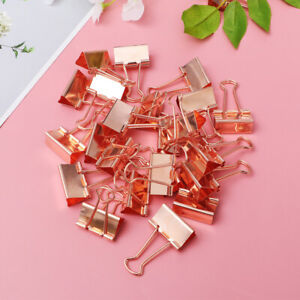 24pcs Decorative Cute Paper Clips Metal Binder Clips For School Home