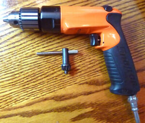 Snap On Tools 3 8 Pneumatic Air Drill Pdr3000a Reversible Orange Mint Usa Made