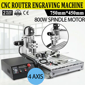 Usb 1 5kw Cnc Router 6040z 4 Axis Engraver Engraving Machine Woodwork Milling