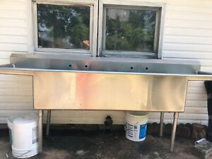 Stainless Steel Commercial Sink 99 x24