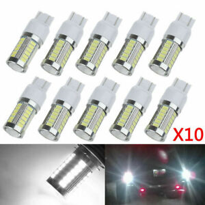 10pcs T20 White 7443 7440 5630 33 Smd Led Dome Map Car Backup Reverse Light Bulb