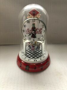 Rare coca cola collectibles Clock  Dinning Area Go Around And Round  Keep Time.