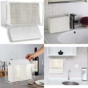 Clear Wall Mounted Paper Towel Dispenser Paper Napkin Holder Pull out Z Organiza