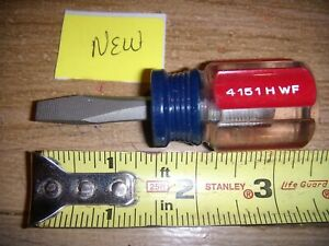 New Craftsman Flathead Screwdriver 1 4 Stubby Usa Made 4151 Hwf Blue Red