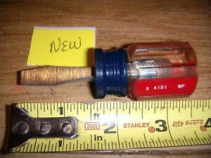 New Craftsman Flathead Screwdriver 1 4 Stubby Usa Made 9 4151 Wf Blue Red