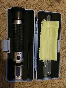 Portable Beer Wort And Wine Refractometer Dual Scale Specific Gravity And Brix
