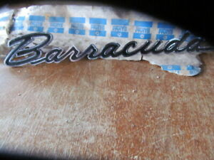 1966 Plymouth Barracuda Nos Front Fender Emblem