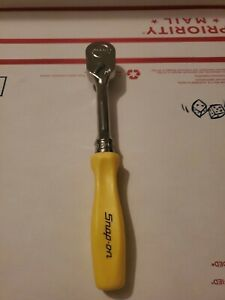 Snap On Tools Fhd80 Yellow Hard Handled Ratchet 3 8 Drive New