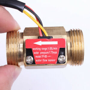 G3 4 Threaded Water Hall Flow Sensor Switch Flowmeter Liquid Control Copper