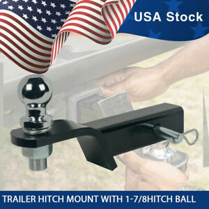 2 Drop Hitch For 2 Receiver Trailer Ball Mount With 1 7 8hitch Ball Set