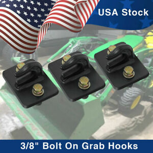 3 8 Bolt On Grab Chain Hooks For Skid Steer Loader Tractor Bucket Heavy Duty