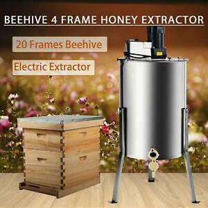 20 Frames Bee Hive Kits Foundations Frames Cover And 4 Frame Honey Extractor