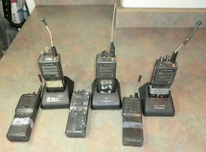 Lot Of 6 Motorola Ht1000 16 Channel Radio parts Only