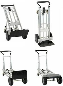 Moving Equipment Hand Truck Dolly Furniture Cart Appliance 2 4 Wheel 4in1 1000lb