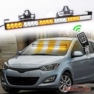 24 Led Emergency Strobe Light Bar Traffic Advisor Flash Warning Blue White 27