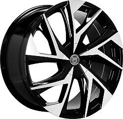 24x10 Lexani 670 Ghost Gloss Black Machined Wheels 6x135 6x5 5 30mm Set Of 4