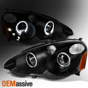 Fit 02 04 Acura Rsx Integra Dc5 Black Halo Projector Led Headlights Replacement