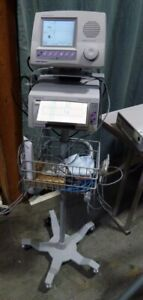 Summit Analogic Fetalgard Lite Doppler With Printer Rolling Cart And Attachments
