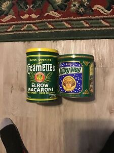 vintage tin cans lot