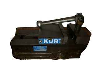 Kurt Anglock 6 Milling Machine Vise W Steel Jaws Handle d675