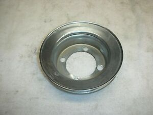 Corvair 60 64 Chrome Top Engine Fan Pulley Small Bearing New Show Quality Chro