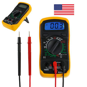 Digital Lcd Multimeter Ac dc Voltmeter Ammeter Ohm Circuit Checker Tester Meter