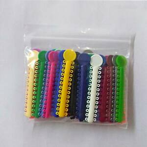 1 Bag Dental Orthodontic Ligature Ties Elastic Rubber Bands 7 Colors 40pcs lot
