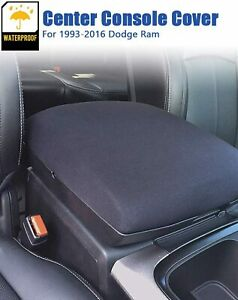 Center Armrest Console Cover Neoprene Protector For 1993 2016 Dodge Ram 1500