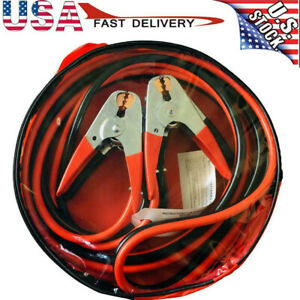 12 16 20 25 Ft Heavy Duty Power Booster Cable Emergency Car Truck Battery Ow