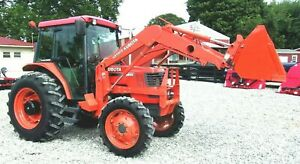 Kubota M6800 Cab loader shuttle 4x4 Low Hours free 1000 Mile Delivery From Ky