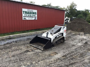2008 Bobcat Mt55 Compact Track Stand On Skid Steer Loader Kubota Diesel 1800hrs