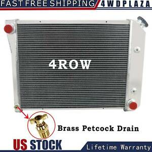 4 Row Aluminum Radiator For 1968 1974 69 70 72 Chevy Nova 75 87 El Camino Auto