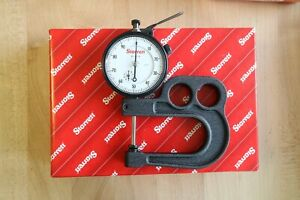 New Starrett Outside Dial Thickness Gage Gauge 0 1 0 001 2 5 Deep Throat