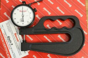 New Starrett Outside Dial Thickness Gage Gauge 0 1 0 001 4 Deep Throat