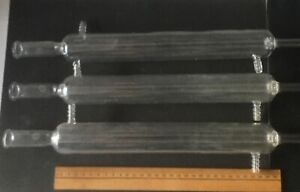 Lot Of 3 Pyrex Glass Distillation Condensers