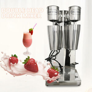 180w 180w Commercial Milk Shake Machine Double Head Drink Mixer Blender 18000rmp