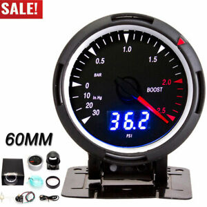 60mm Car Turbo Boost Gauge 30 2 5 Bar Psi Indicator Control Panel White Led