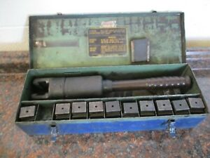Burndy Y39 Hypress Remote Hydraulic Crimping Tool With Case 11 Dies Used