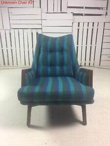 Vintage Adrian Pearsall Like All Original Chair With Walnut Features