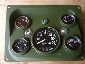 Hmmwv Complete Dash Panel With Gauges And Led Bulbs And Clear Lens