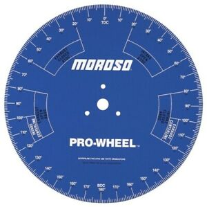 Moroso 62191 18 Degree pro Wheel for Engine Stand Use New