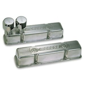Moroso 68365 Die cast Alum Valve Covers For Sbc 283 305 350 400 Polished New