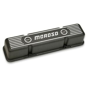 Moroso 68411 Die Cast Aluminum Valve Covers For Chevy Sbc 283 305 350 400 New