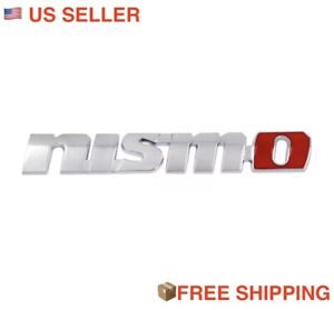 3d Nismo Nissan Jdm Emblem Trunk Metal Badge Sticker Decal Logo 370z 350z New