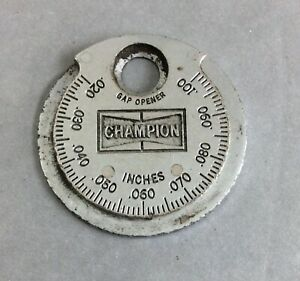 Used Champion Spark Plug Taper Gap Gauge Tool Ct 481 Made In Usa Key Chain