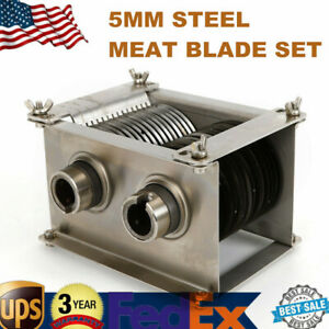 Electric Meat Cutting Machine 5mm 0 2 Inch Blade Slicer Durable Stainless Steel